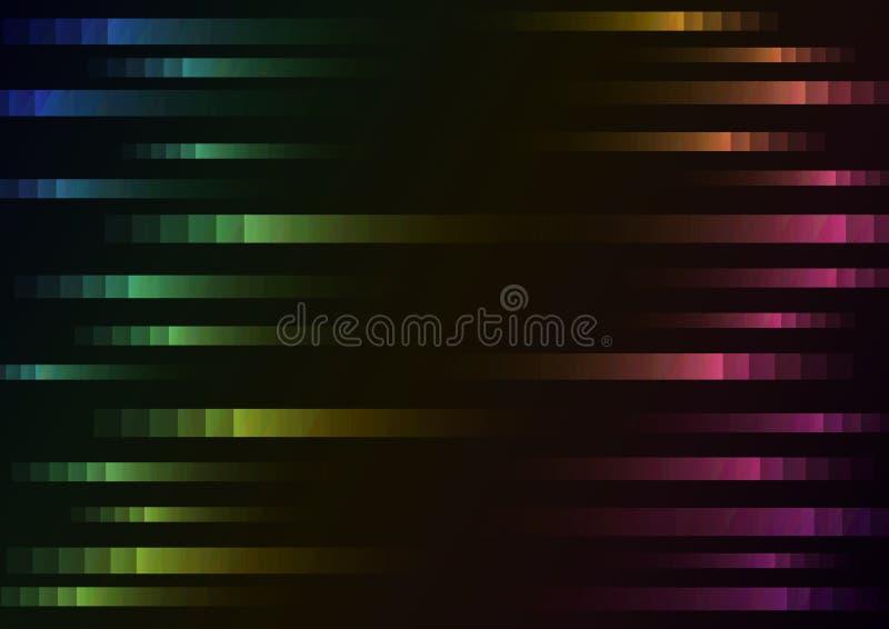 Couleur d'arc-en-ciel de fond abstrait de vitesse de pixel illustration stock