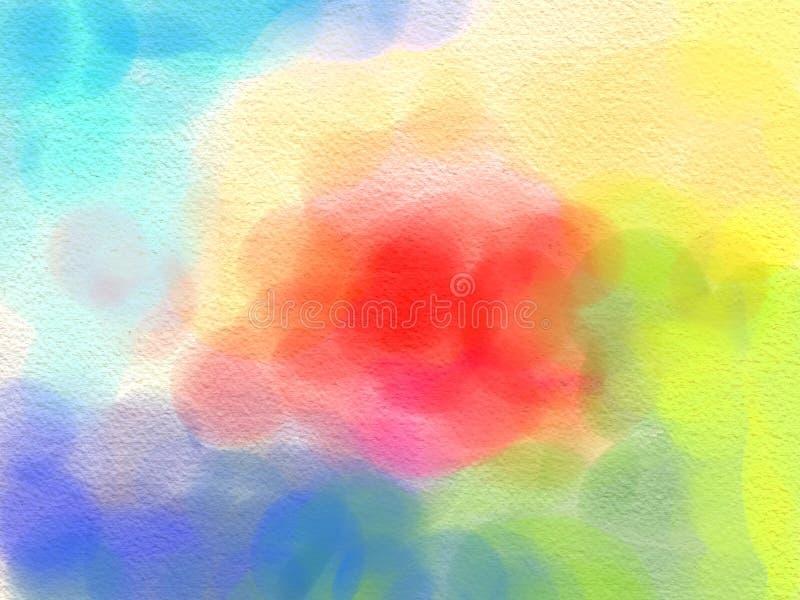 Couleur d'eau abstraite, fond de course de peinture, acrylique grunge de texture illustration stock