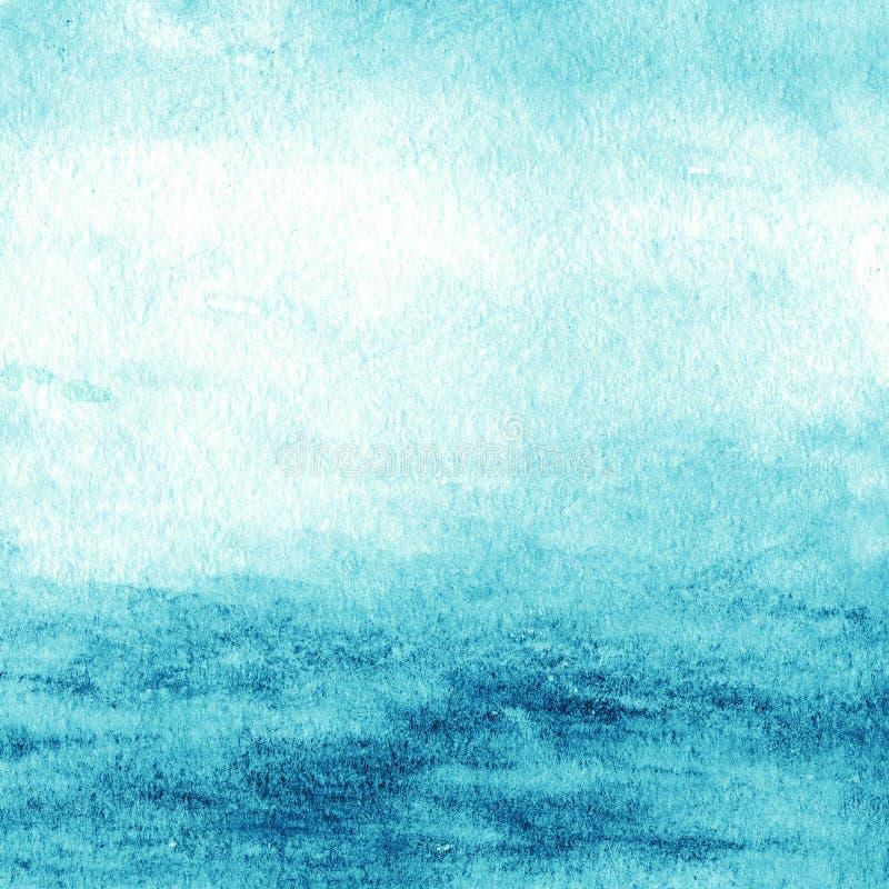 Couleur d'eau colorée abstraite pour le fond Gree bleu texturisé illustration libre de droits