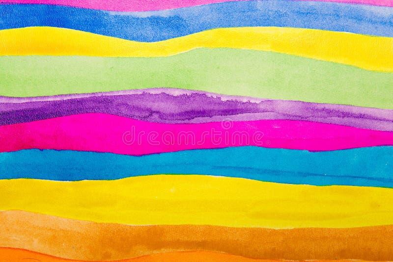 Couleur d'eau colorée de bandes illustration stock