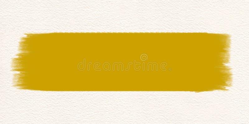 Couleur d'eau jaune de pinceau de course Course de brosse jaune illustration de vecteur