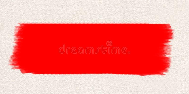 Couleur d'eau rouge de pinceau de course Course de brosse rouge illustration de vecteur