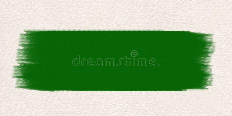 Couleur d'eau verte de pinceau de course Balayez le vert de course illustration libre de droits