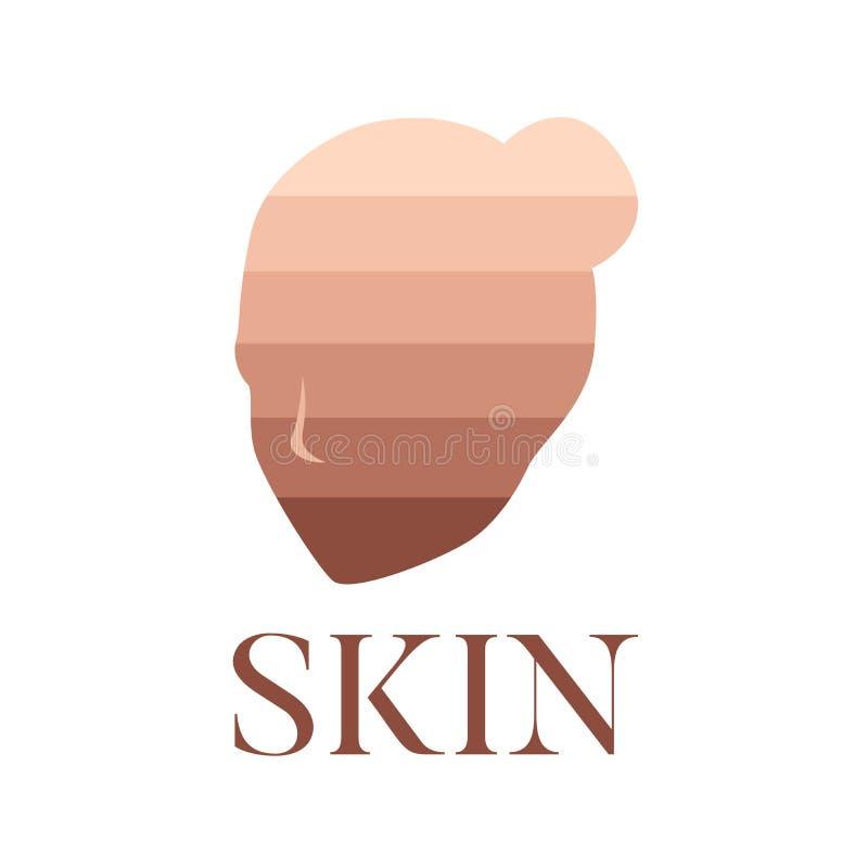 Couleur d'icône de teint illustration de vecteur