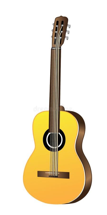 Couleur d'illustration de guitare acoustique photos libres de droits