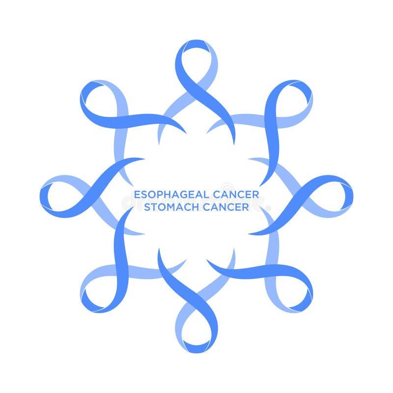 Couleur de bigorneau de ruban de Cancer représentant l'appui d'aborder des cancers illustration stock