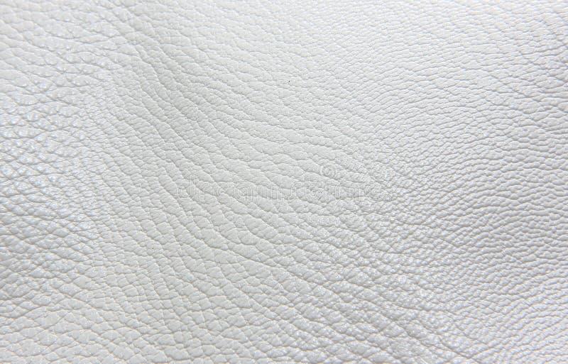 Couleur de blanc de cuir de faux de texture image stock