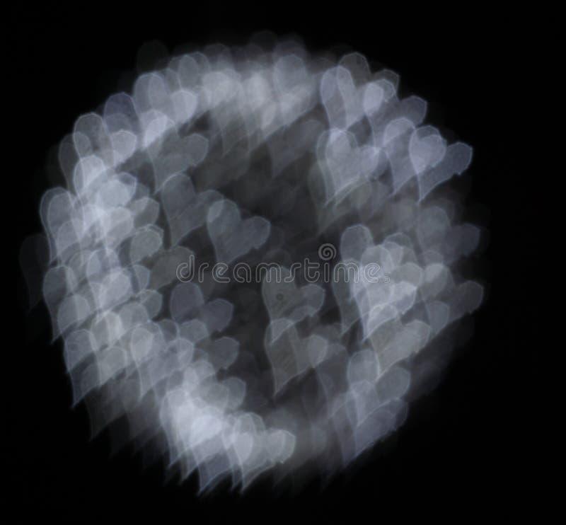 Couleur de bokeh de coeurs images stock