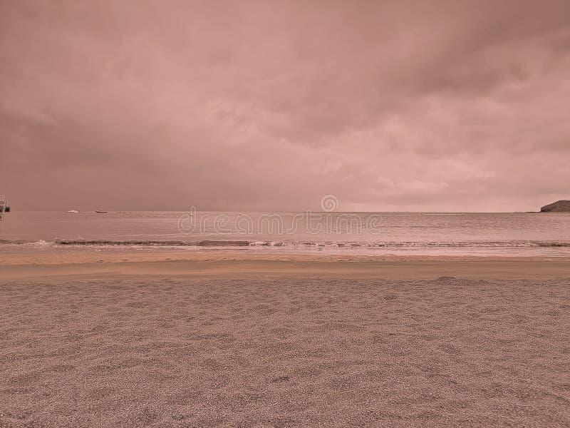 Couleur de corail de détente de plage photos libres de droits