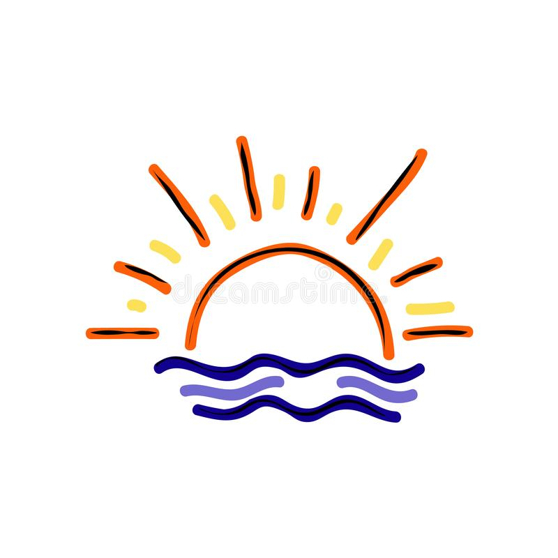 Couleur de coucher du soleil ou de lever de soleil illustration libre de droits