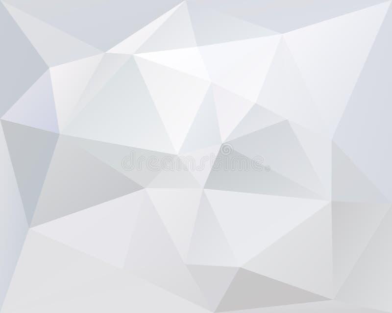 Couleur de fond de vecteur de triangle, légère et pâle polygonale blanche illustration de vecteur