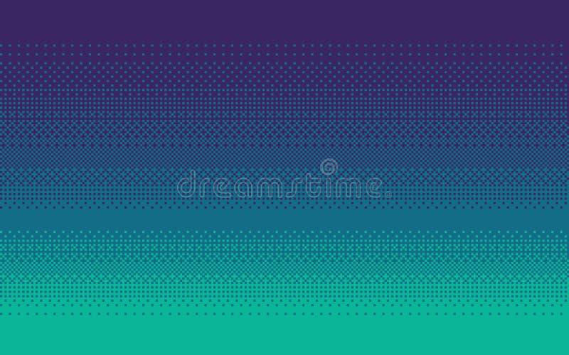 Couleur de gradient d'art de pixel Fond hésitant de vecteur illustration stock
