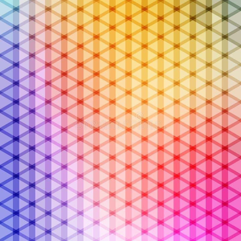 Couleur de gradient et vecteur bleus de fond de modèle de polygone de triangle illustration libre de droits