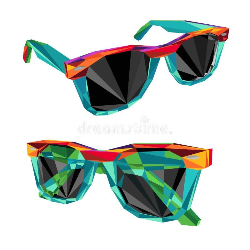 Couleur de lunettes de soleil illustration de vecteur