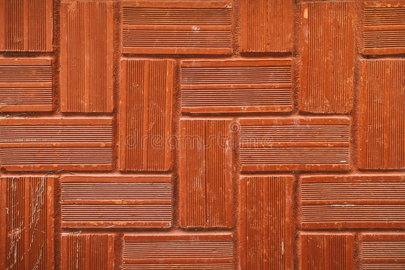 Couleur de normale de milieux de mur de briques image stock