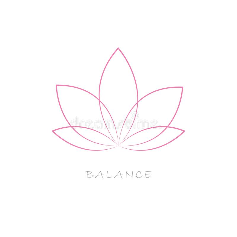 Couleur de rose de fleur de Lotus illustration libre de droits