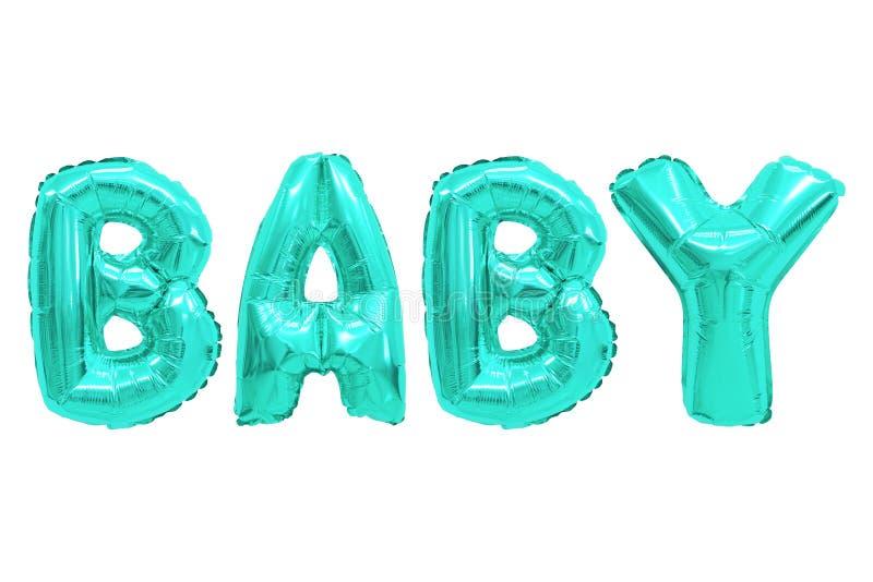 Couleur de turquoise de bébé photographie stock