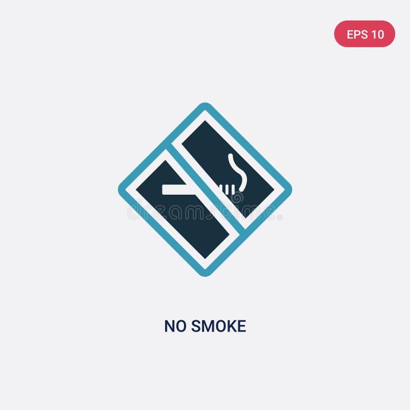 Couleur deux aucune icône de vecteur de fumée de signaler le concept bleu d'isolement aucun symbole de signe de vecteur de fumée  illustration de vecteur