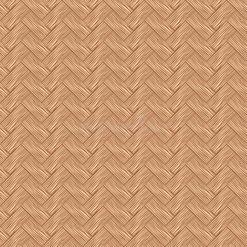 Couleur en osier en bois de cerise de modèle sans couture illustration stock