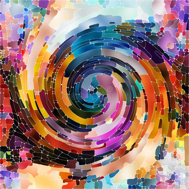 Couleur en spirale de calcul illustration de vecteur