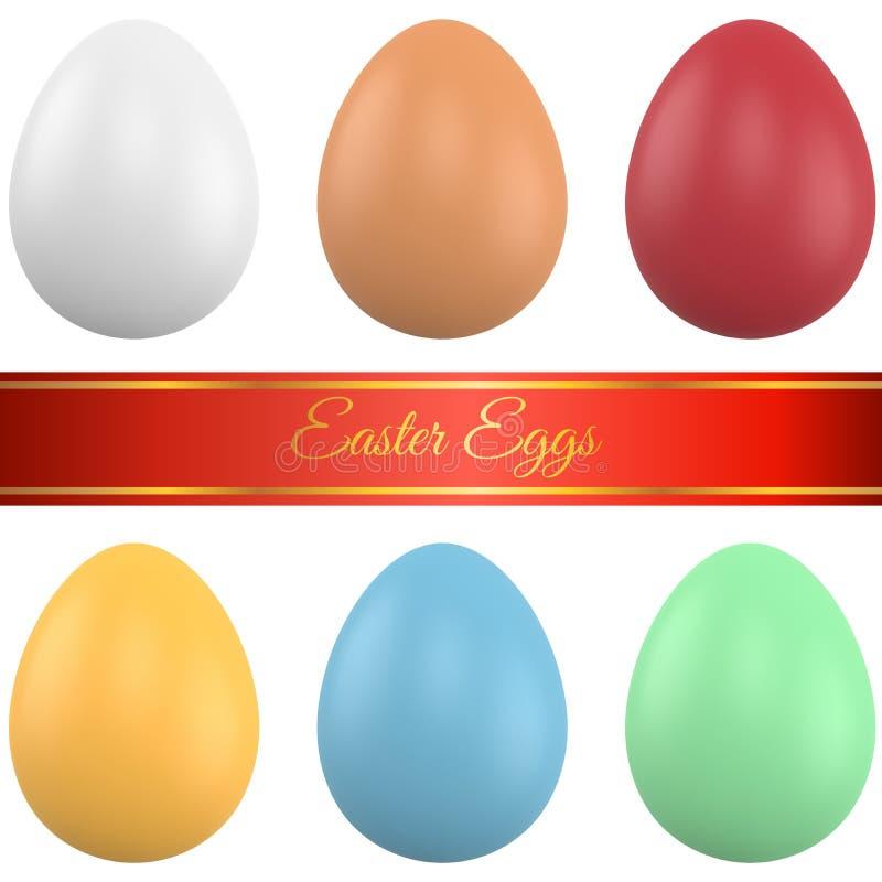 Couleur Ester Eggs illustration de vecteur