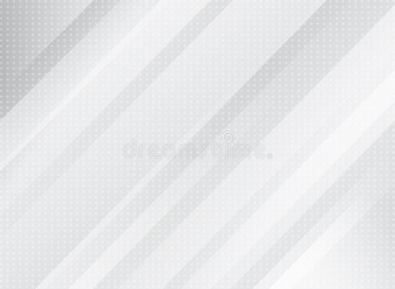 Couleur gris-clair de technologie abstraite et obliq rayé de rectangle illustration libre de droits