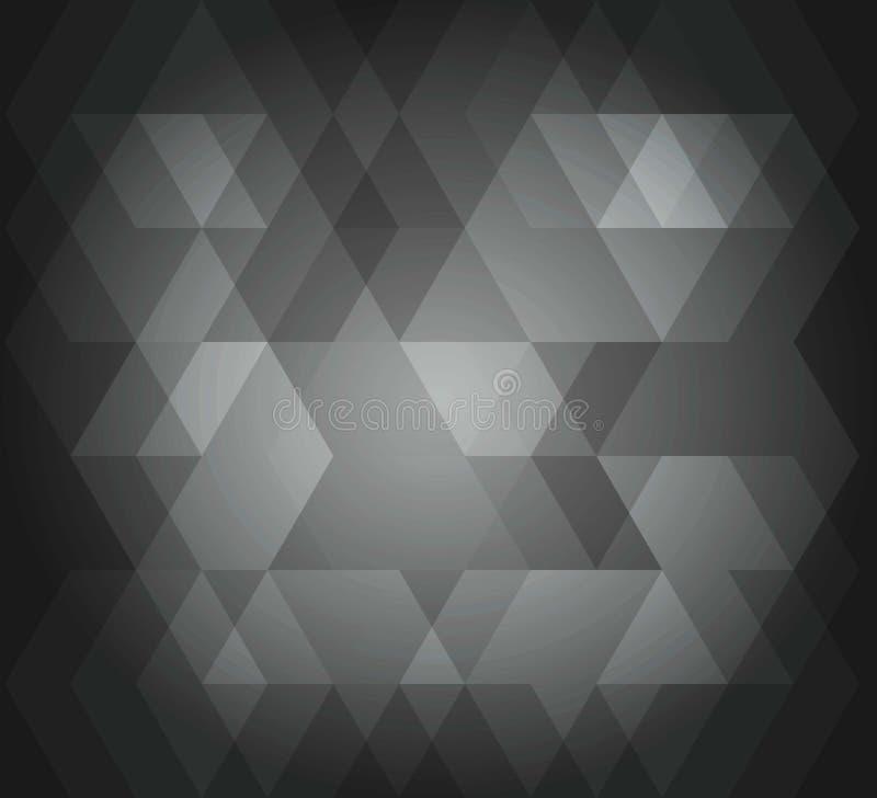 Couleur grise de fond de modèle abstrait de sortilège illustration stock