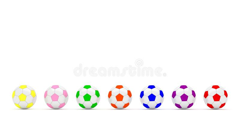 Couleur multi du football image stock