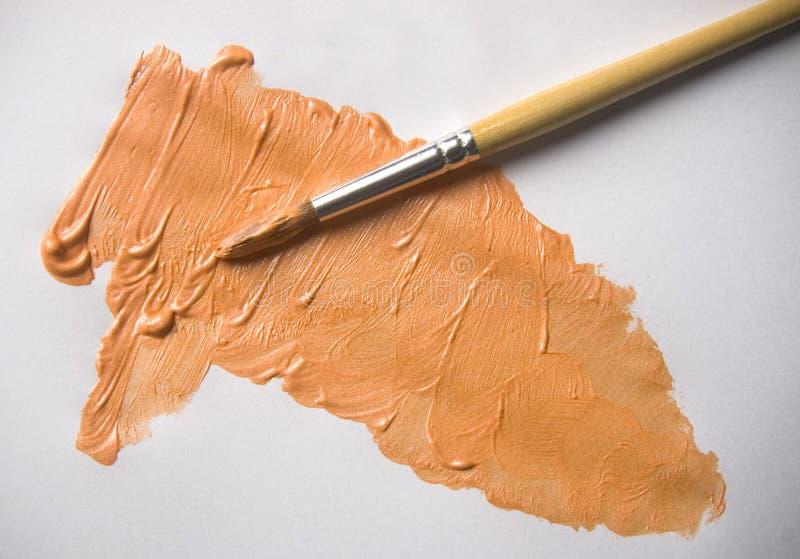 Couleur orange d'acrylique de perle photographie stock libre de droits