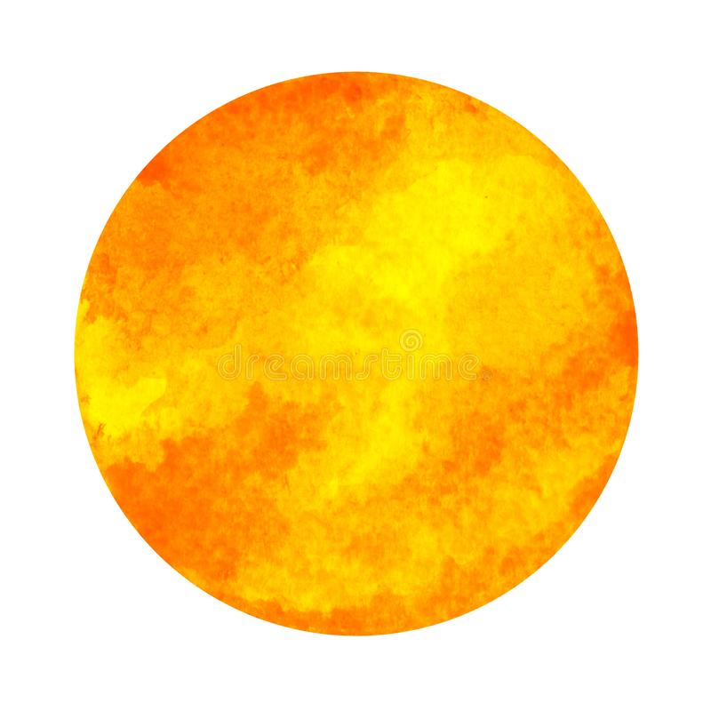 Couleur orange de concept sacré de symbole de chakra, peinture d'aquarelle illustration de vecteur