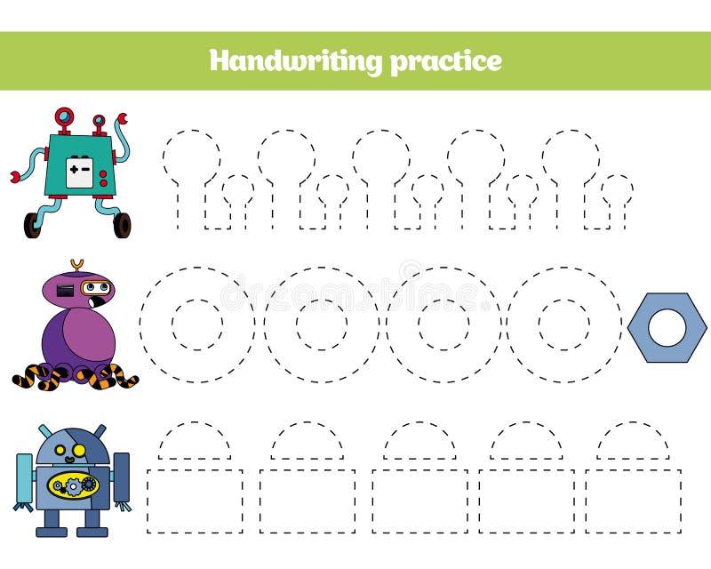 Couleur par le nombre, jeu d'éducation pour des enfants La page de coloration, dessin badine l'activité Conception de robot photo libre de droits
