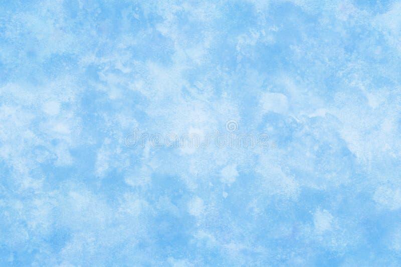 Couleur pastel teinte hiver texture de glace bleue abstraite ou aquarelle naturelle fond de peinture illustration stock