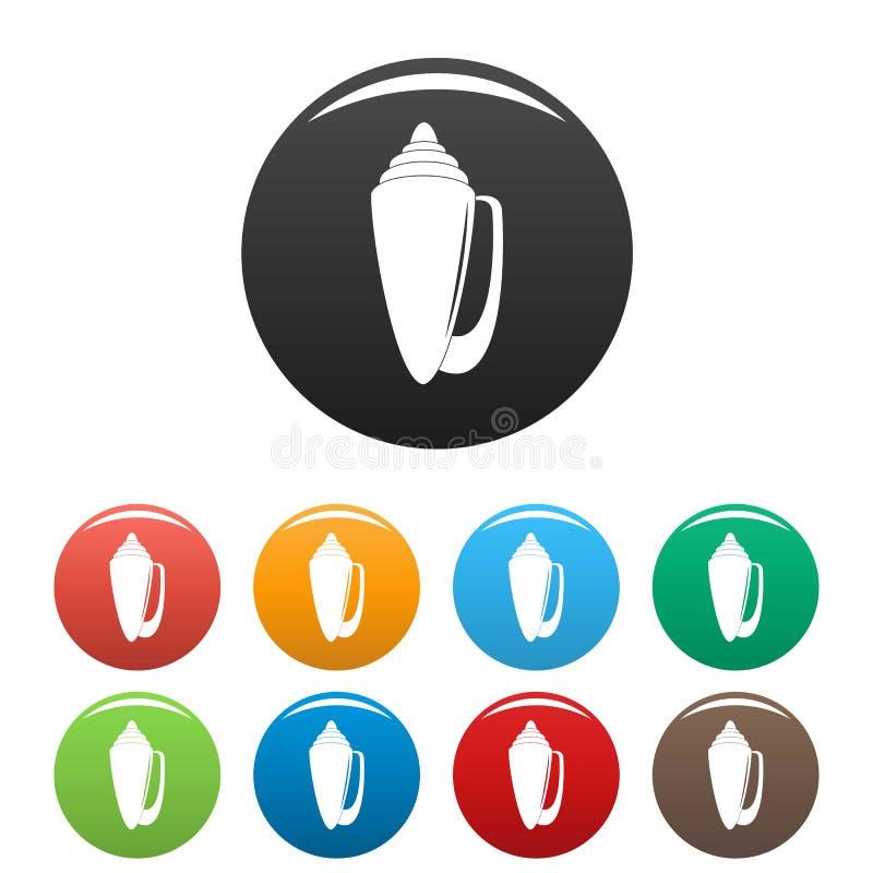 Couleur réglée par icônes de Shell illustration de vecteur