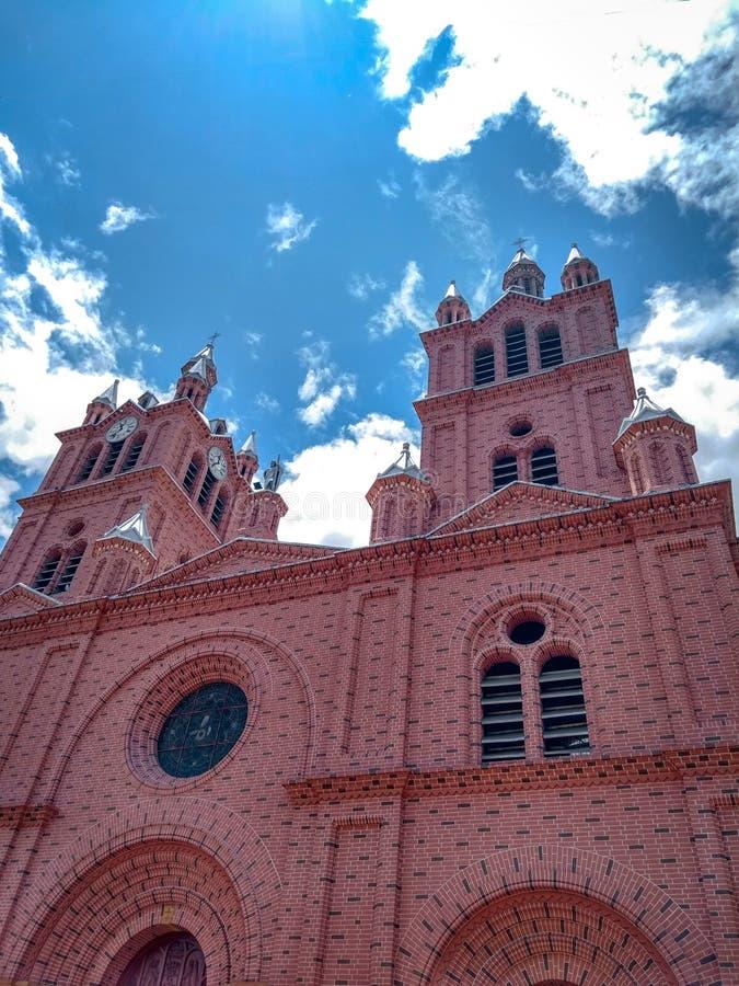 Couleur rosa de colombiama d'Iglesia photo stock