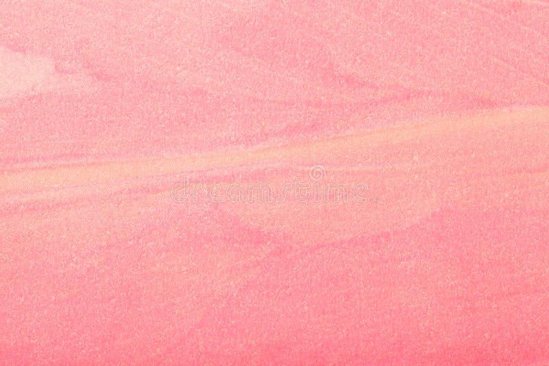 Couleur rose-clair de fond d'art abstrait Peinture multicolore sur la toile photographie stock