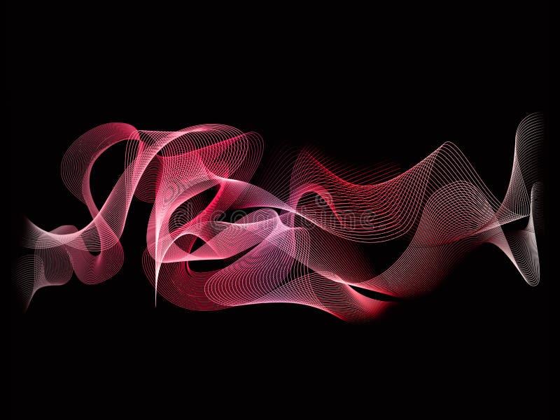 Couleur rouge abstraite de fond de vague illustration libre de droits