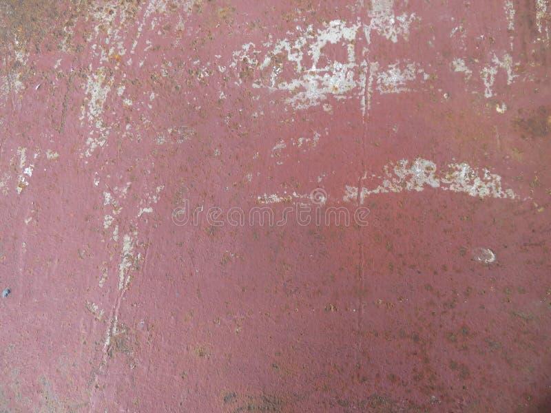 Couleur rouge-brun de fond, texture peinte de tôle photos stock