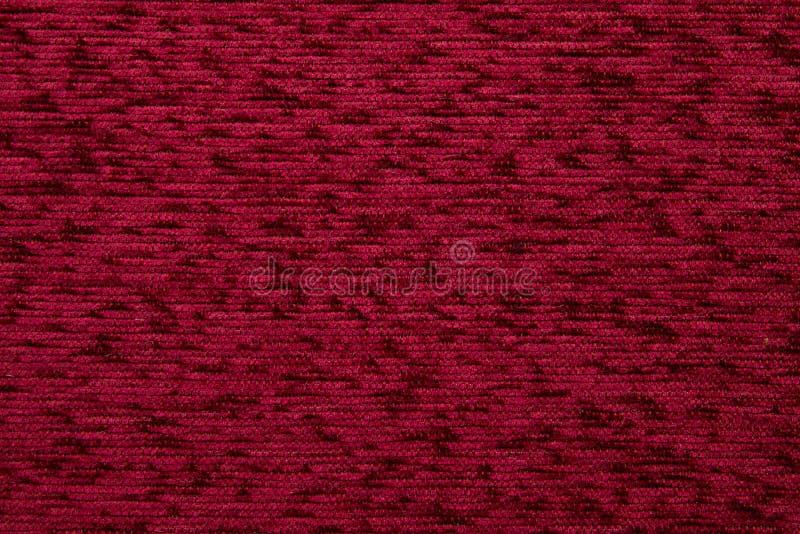 Couleur rouge Rufous de Kombin 06 de texture de tissu de textile photographie stock