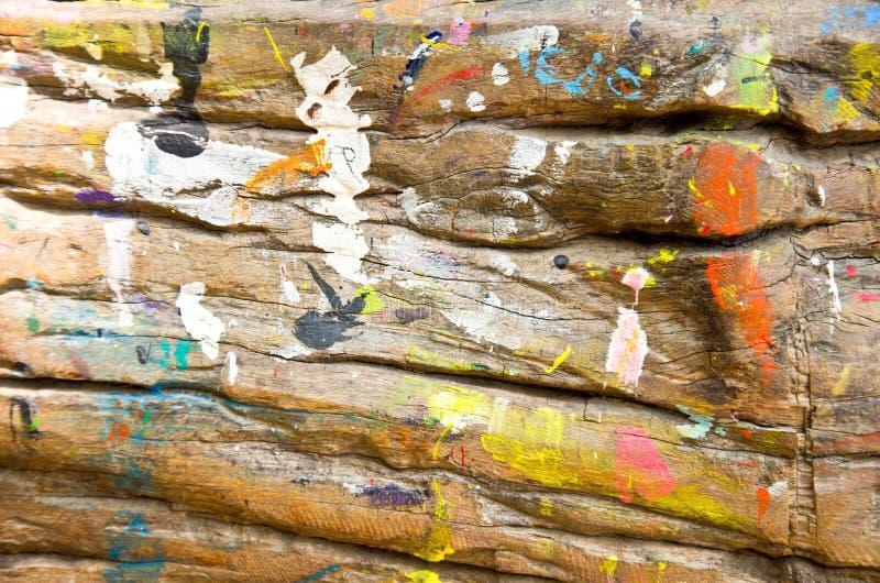 Couleur sur le bois photographie stock libre de droits