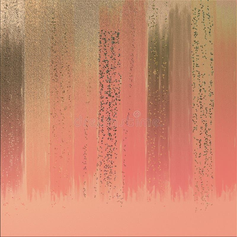 Couleur swatched sur le fond texturisé Fond abstrait avec le scintillement de relief Effets de brûlure de couleur illustration stock