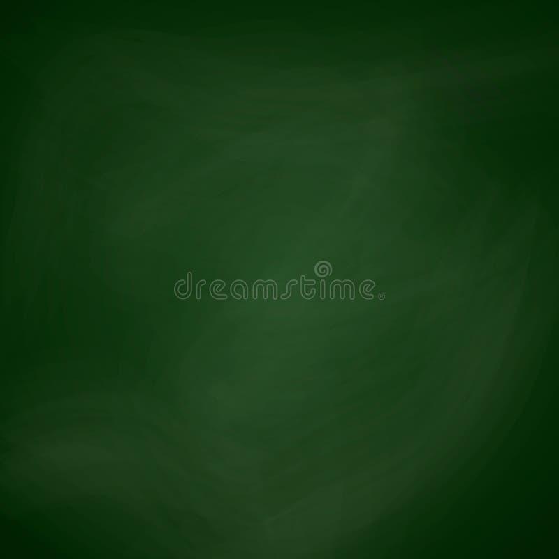 Couleur vert-foncé de tableau noir vide calibre de tableau Texture réaliste de tableau noir d'école pour le fond de bannière illustration libre de droits