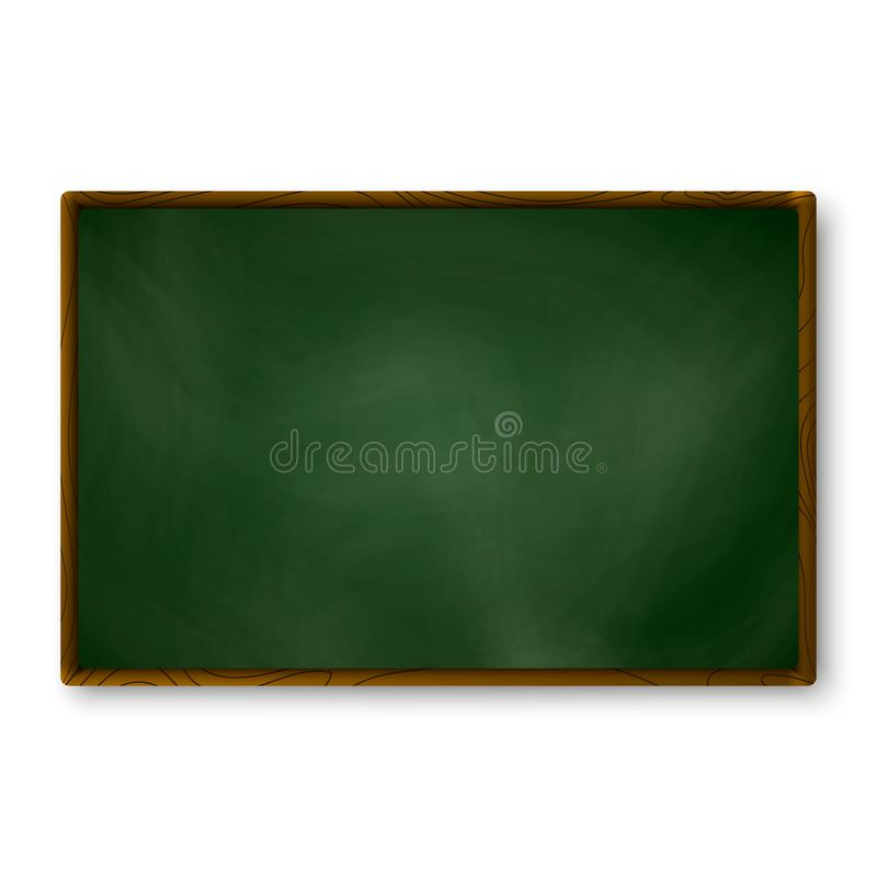 Couleur vert-foncé de tableau noir vide sur le mur calibre de tableau Texture réaliste de tableau noir d'école pour le fond de ba illustration libre de droits