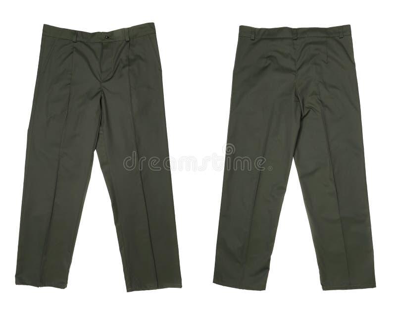Couleur verte fonctionnante de pantalon. images libres de droits