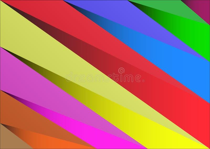 Couleur vibrante de triangle abstraite de fond illustration de vecteur