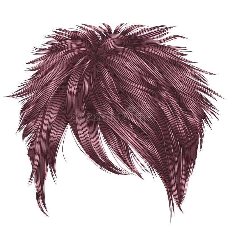 Couleurs à la mode de rose d'opper de  des poils courts Ñ de femme Ennui illustration libre de droits