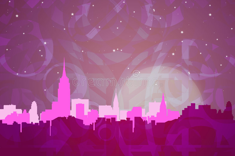 Couleurs abstraites de New York illustration stock
