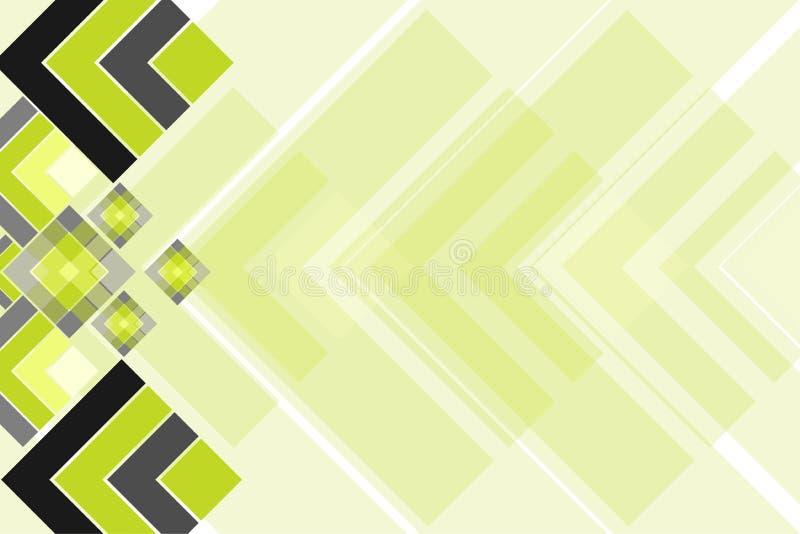 Couleurs abstraites modernes de fond, d'illustration de vecteur, de gris, vertes et noires illustration de vecteur