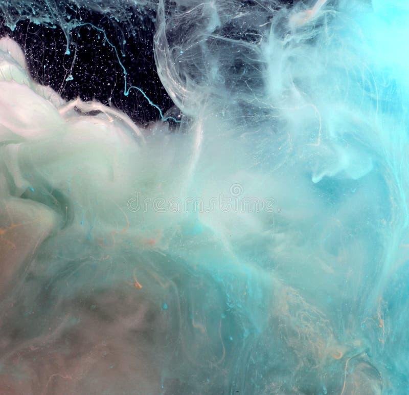 Couleurs acryliques dans l'eau abrégez le fond image stock