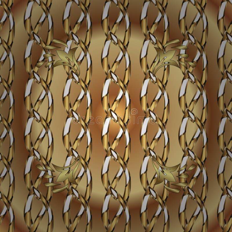 Couleurs beiges et brunes avec les éléments d'or illustration libre de droits