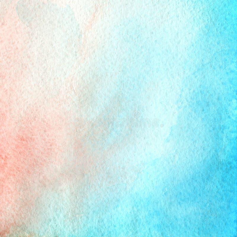 Couleurs bleues et roses, fond à la mode d'aquarelle, divorce, tache et jet Grand élément de conception pour la brochure, bannièr illustration stock